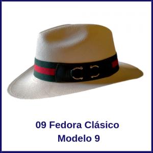 Sombrero Panama Fedora Clasico Modelo 9