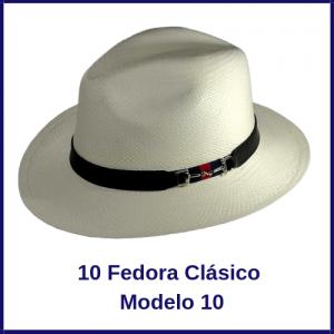 Sombrero Panama Fedora Clasico modelo 10