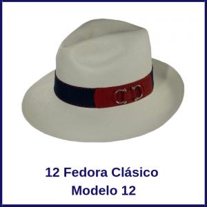 Sombrero Panama Fedora Clasico Modelo 12