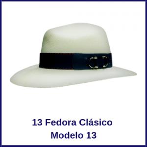 Sombrero Panama Fedora Clasico Modelo 13