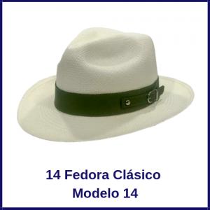 Sombrero Panama Fedora Clasico Modelo 14