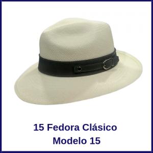 Sombrero Panama Fedora Clasico Modelo 15