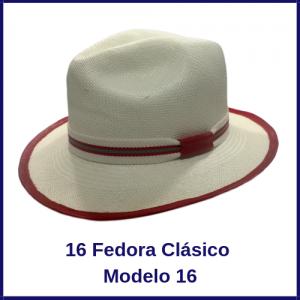 Sombrero Panama Fedora Clasico Modelo 16