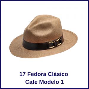 Sombrero Panama Fedora Clasico Cafe Modelo 1