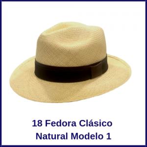 Sombrero Panama Fedora Clasico Natural  Modelo 1