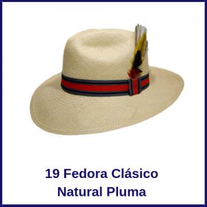 Sombrero Panama Fedora Clasico Natural Modelo Pluma
