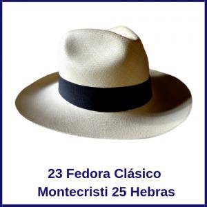 Sombrero Panama Fedora Clásico  Montecristi 25H