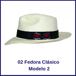 Sombrero Panama Fedora Clasico Modelo 2