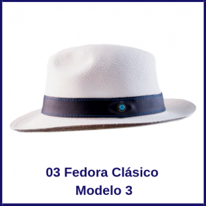 Sombrero Panama Fedora Clasico Modelo 3