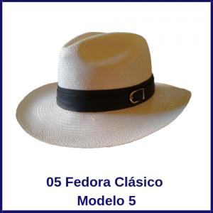 Sombrero Panama Fedora Clasico Modelo 5