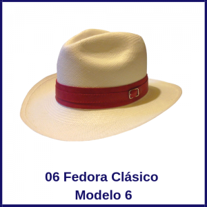 Sombrero Panama Fedora Clasico Modelo 6