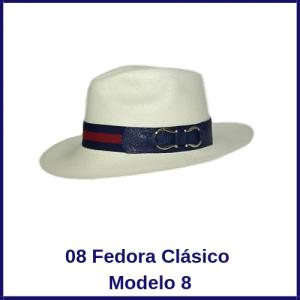 Sombrero Panama Fedora Clasico Modelo 8