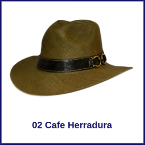 Sombrero Panama Vaquero Café Herradura