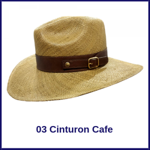 Sombrero Pnama Vaquero 03 Cinturon Cafe
