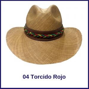 Sombrero Panama Vaquero 04 Torcido Rojo