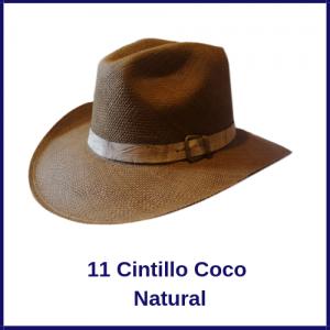 Sombrero Panama VAquero 11 Cintillo Coco Natural