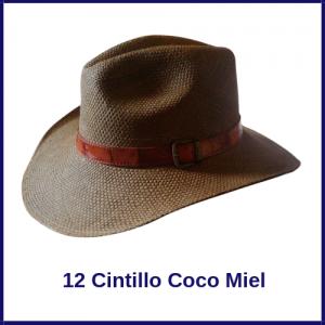 Sombrero Panama Vaquero 12 Cintillo Coco Miel