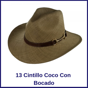 Sombrero Panama Vaquero 13 Cintillo Coco Con Bocado