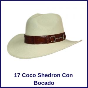 Sombrero Panama Vaquero 17 Coco Shedron Con Bocado