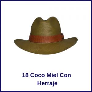 Sombrero Panama Vaquero 18 Coco Miel Con Herraje
