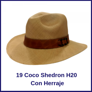Sombrero Panama Vaquero 19 Coco Shedron H20 Con Herraje