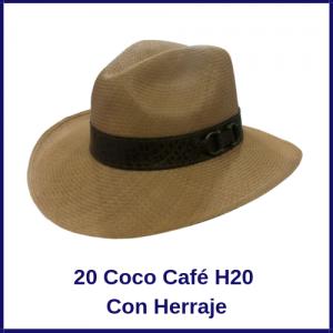 Sombrero Panama Vaquero 20 Coco Café H20 Con Herraje